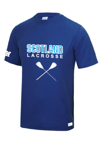 Scotland Lacrosse Womens Royal Blue Performance Tee
