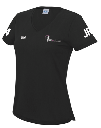 Southampton Ladies Lacrosse Black Performance Tee (All Print)