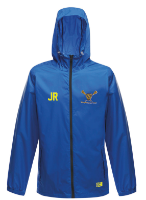Shropshire Girls Lacrosse Royal Blue Waterproof with Shropshire Lacrosse on top back