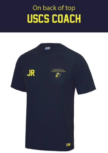 UCLan Navy Mens Coach Performance Tee