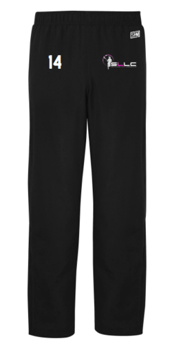 Southampton Ladies Lacrosse Black Open Hem Trackies