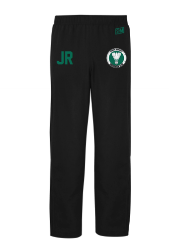 Stirling Badminton Black Mens Trackies (With AU Logo)