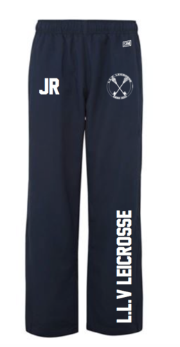 L.L.V Leicrosse Navy Mens Trackies (Logo Embroidery, Everything Else Print)