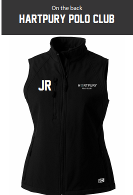 Hartpury Polo Black Womens Softshell Gilet (Logo Embroidery, Everything Else Print)