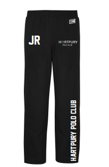 Hartpury Polo Black Mens Trackies (Logo Embroidery, Everything Else Print)