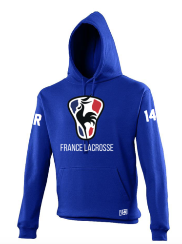 France Lacrosse Royle Blue Unisex Hoody (All Print)
