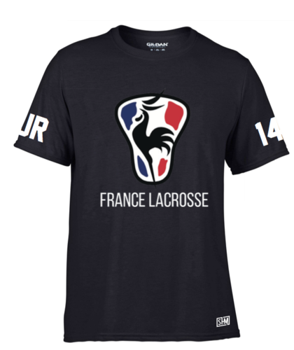 France Lacrosse Black Womens Performance Tee (All Print)