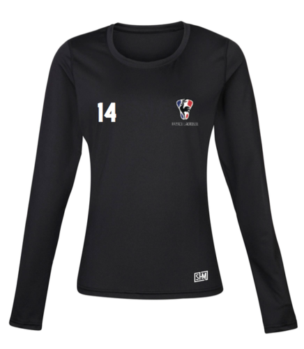 France Lacrosse Black Womens Baselayer (All Print)