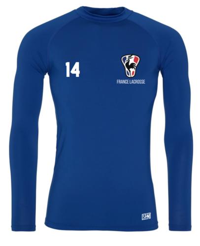 France Lacrosse Blue Mens Baselayer (All Print)