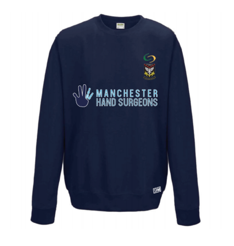 Mersey Cheadle Cricket Navy Sweatshirt (All Embroidery)