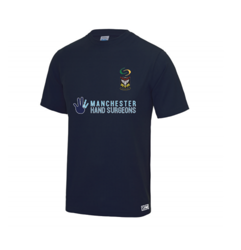 Mersey Cheadle Cricket Heather Navy Womens Performance Tee (All Embroidery)