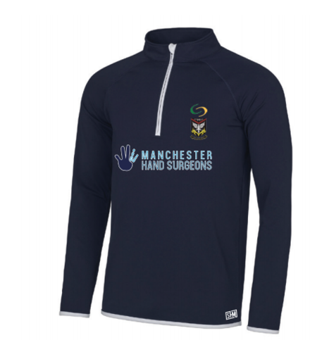 Mersey Cheadle Cricket Navy Womens Performance Sweatshirt (Logo Embroidery, Everything Else Print)