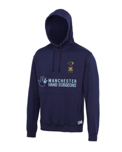 Mersey Cheadle Cricket Sport Navy Unisex Hoody (Logo Embroidery, Everything Else Print)