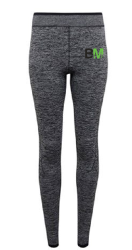 Benchmark Textured Grey Womens Leggings (All Print)