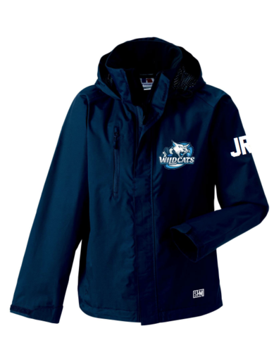 Rugby Wildcats Womens Navy Hydroplus Jacket (All Print)