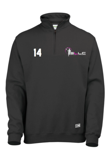 Southampton Lacrosse Black Womens 1/4 Sweatshirt (All Embroidery)