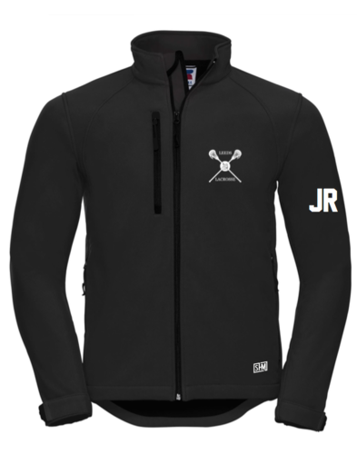 Uni Of Leeds Lacrosse Black Womens Softshell Jacket (Logo Embroidery, Everything Else Print)