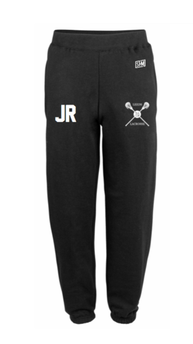 Uni Of Leeds Lacrosse Black Mens Sweatpants (Logo Embroidery, Everything Else Print)