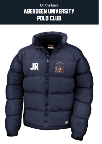 Aberdeen Polo Navy Unisex Puffa (Logo Embroidery, Everything Else Print)