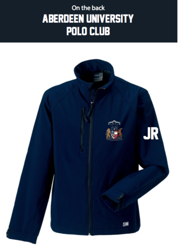 Aberdeen Polo Navy Mens Softshell Jacket (Logo Embroidery, Everything Else Print)