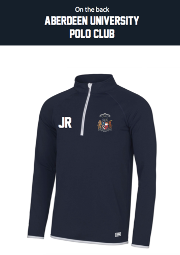 Aberdeen Polo Navy Mens Performance Sweatshirt (Logo Embroidery, Everything Else Print)