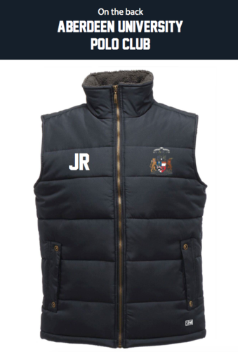 Aberdeen Polo Navy Unisex Gilet (Logo Embroidery, Everything Else Print)