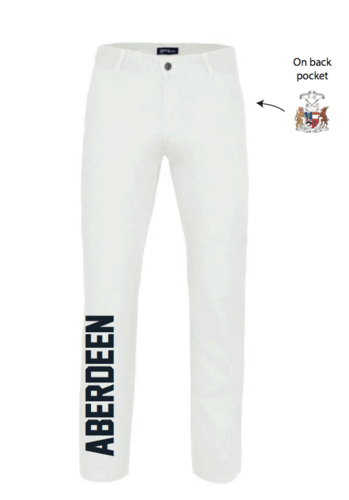 Aberdeen Polo Womens Whites (Logo Embroidery, Everything Else Print)