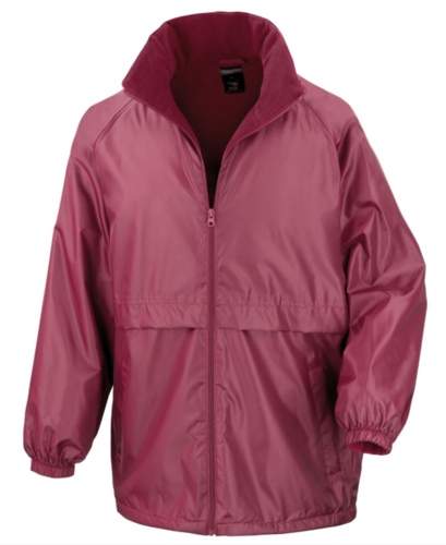 Cheshire Lacrosse Junior Maroon Rain Jacket (Logo Left Breast & Cheshire Lacrosse On Back)