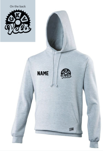GKV Velo Heather Grey Unisex Hoodie (All Print)