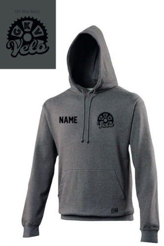GKV Velo Charcoal Grey Unisex Hoodie (All Print)
