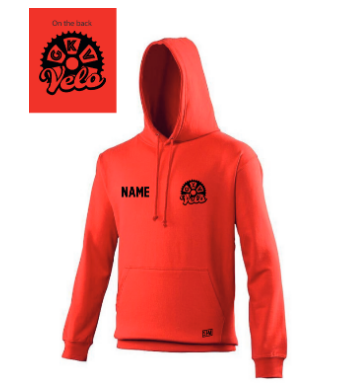 GKV Velo Red Junior Hoodie (All Print)