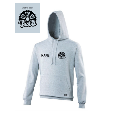 GKV Velo Heather Grey Junior Hoodie (All Print)
