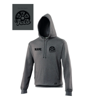 GKV Velo Charcoal Grey Junior Hoodie (All Print)