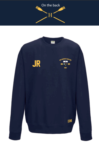 Hull Uni Boat Club Navy Unisex Sweatshirt (All Print)