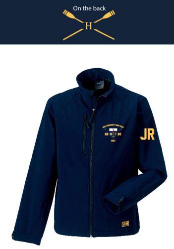 Hull Uni Boat Navy Womens Softshell Jacket (Logo Embroidery, Everything Else Print)