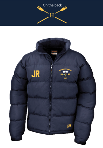 Hull Uni Boat Navy Unisex Puffa (Logo Embroidery, Everything Else Print)