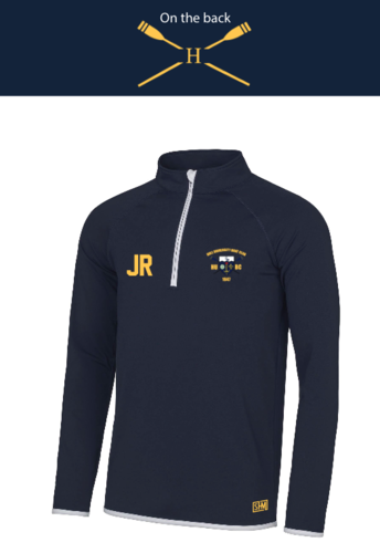 Hull Uni Boat Mens Navy Performance Sweatshirt (Logo Embroidery, Everything Else Print)