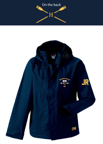 Hull Uni Boat Navy Mens Hydroplus Jacket (Logo Embroidery, Everything Else Print)