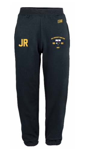 Hull Uni Boat Mens Navy Sweatpants (Logo Embroidery, Everything Else Print)