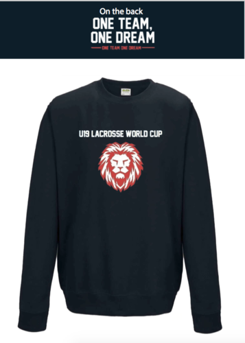 England Lacrosse U19's Navy Unisex Sweatshirt (All Print) (One Team, One Dream In Big)