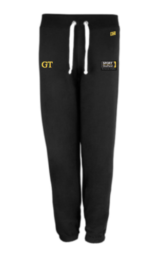 Sheffield Equestrian Black Womens Sweatpants (Logo Embroidery, Everything Else Print)