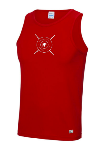 Northumbria Powerlifting Red Mens Performance Vest (All Print)