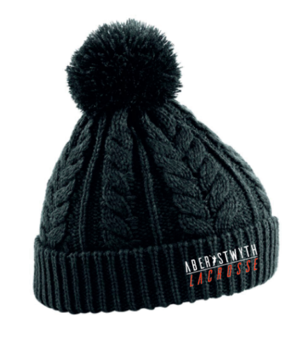 Aberystwyth Lacrosse Black Beanie (All Embroidery)