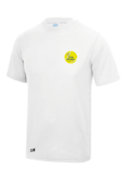 Long Marston Tennis Mens White Performance Tee (All Embroidery)