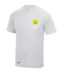 Long Marston Tennis Ash Grey Mens Performance Tee (All Embroidery)