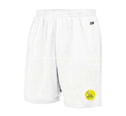 Long Marston Tennis White Unisex Shorts (All Embroidery)
