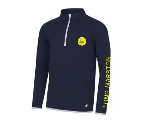 Long Marston Tennis Navy Womens Performance Sweatshirt (All Embroidery)