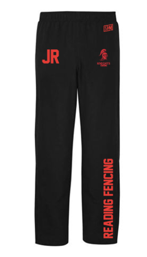 Reading University Fencing Black Mens Trackies (Logo Embroidery, Everything Else Print)