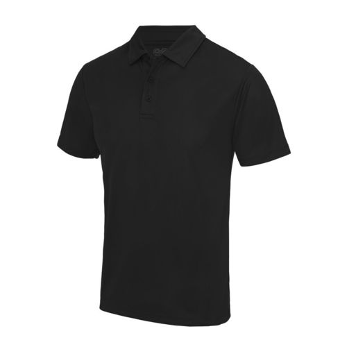 Spotland RFC Black Unisex Performance Polo (Logo Embroidery, Everything Else Print)