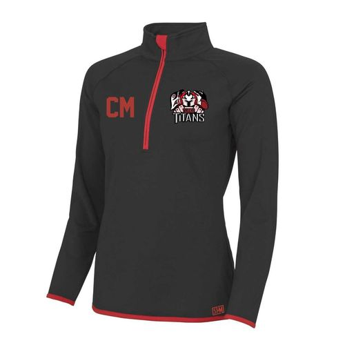 Turku Titans Red Womens Performance Sweatshirt (Logo Embroidery, Everything Else Print)